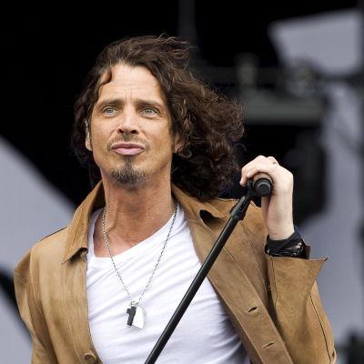 Rocksångaren Chris Cornell på Pinkpop-festivalen i Nederländerna i maj 2009.