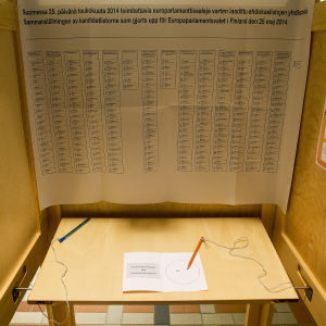 Valbås i Europaparlamentsvalet 2014.