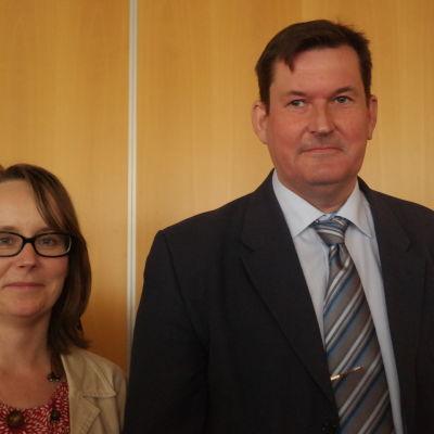 Karoline Zilliacus och Martin Öhman