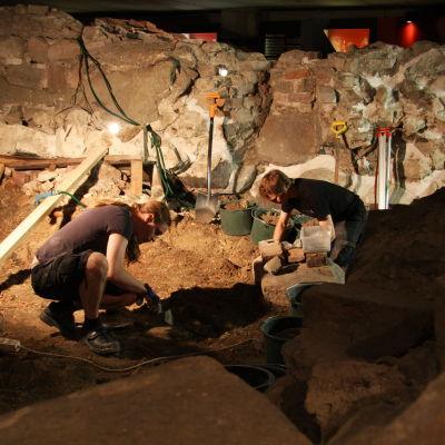 Arkeologiska utrgrävningar vid Aboa Vetus.