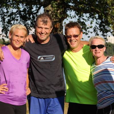 Gänget som gav sitt allt i Sun City Triathlon