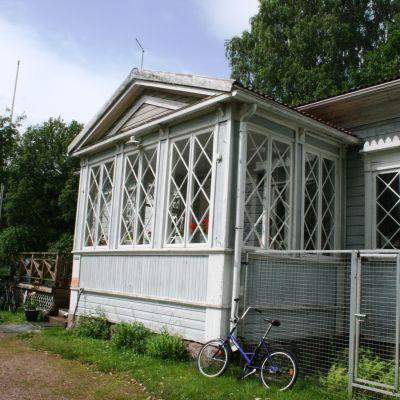 Receptionen i Lovisa camping.