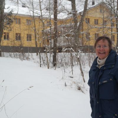 Hanna Järvinen vid Kapellstrand i Pargas