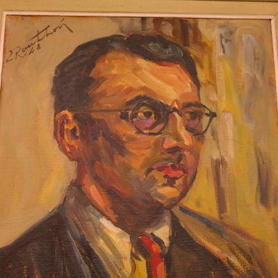 Självporträtt av erik Aschan-Rauthovi