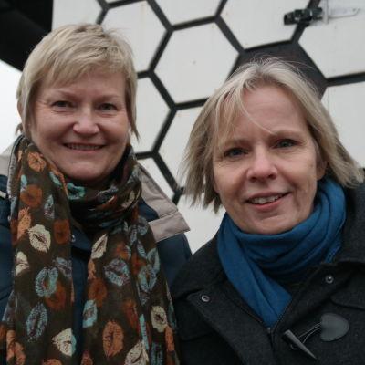 Bodil Julin och Eva Juslin från Yrkeshögskolan Novia