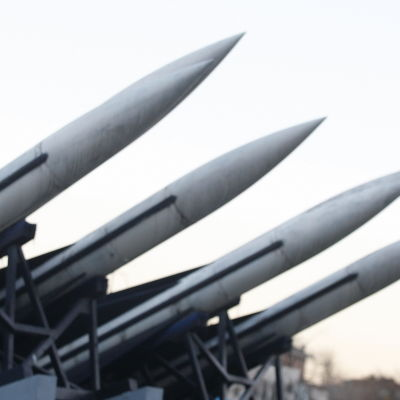 Nordkoreanska scud-missiler på krigsmuseum i Sydkoreas huvudstad Seoul.
