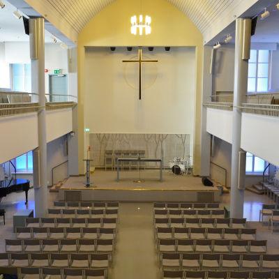 Interiör från Luther-kyrkan i Helsingfors