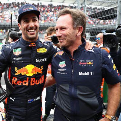 Daniel Ricciardo ja Christian Horner.