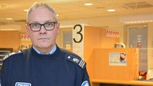 Kommissarie Kenneth Johansson vid Raseborgspolisen.
