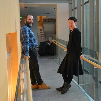 Porträtt Marcus Söderström och Emma Westerlund.