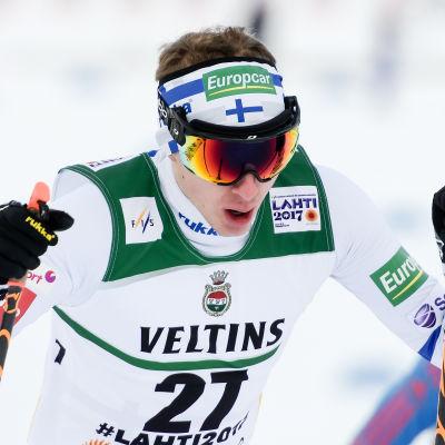 Ilkka Herola var allt annat än nöjd med sin tolfte plats i den först individuella tävlingen i Lahtis.