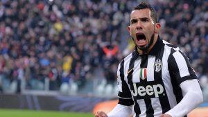Carlos Tevez segerskytt i Turin.