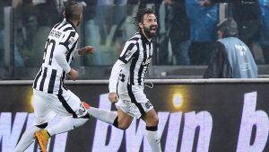 Juventusmittfältaren Andrea Pirlo matchvinnare mot Torino.
