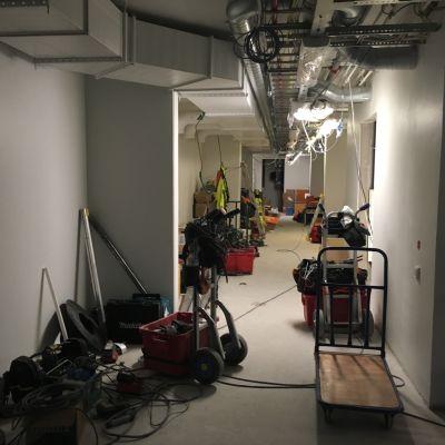 Kymenlaakson keskussairaalan uuden laajennusosan rakennustyömaa.