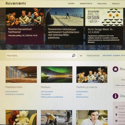 Rovaniemen kaupungin verkkosivut