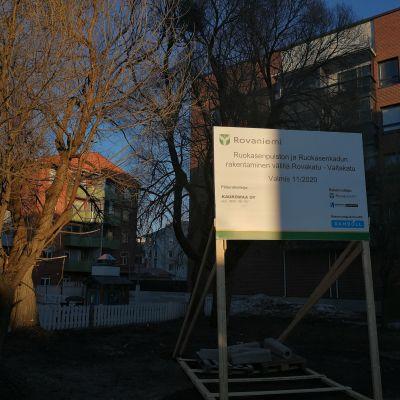 Rovaniemen Ruokasenpuisto peruskorjataan kesällä 2020.
