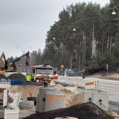 Remontissa oleva Yliopistonkatu Jyväskylässä.