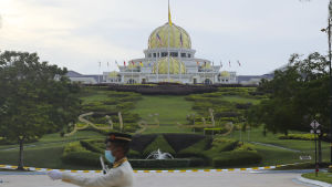 Det nya kungliga palatset Istana Negara i Malaysias huvudstad Kuala Lumpur.