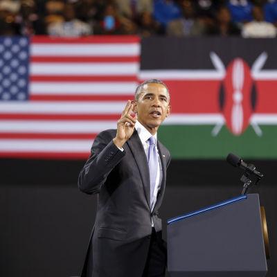 USA:s president Barack Obama avslutar idag sitt besök i sin fars hemland Kenya. Hans sista programpunkt var ett tal på en idrottsarena i Nairobi.