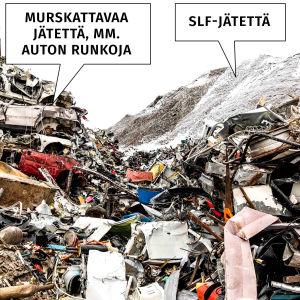 Kuva SLF-jätekasasta.