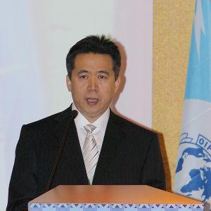 Meng Hongwei år 2008 då han var Interpols chef i Kina och biträdande minister för allmän säkerhet