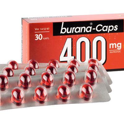 Värkmedicinen Burana Caps.