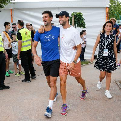 Novak Djokovic ja Grigor Dimitrov.