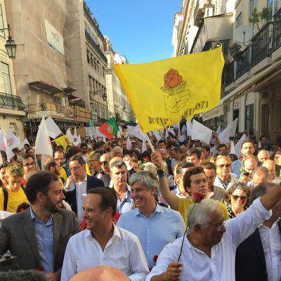 Antonio Costa bland väljare i Lissabon