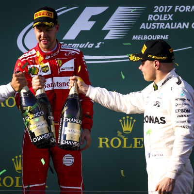 Lewis Hamilton, Sebastian Vettel, Valtteri Bottas.