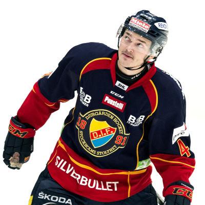 Marcus Högström i Djurgårdens tröja.