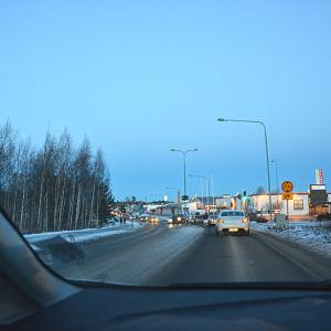Bilkö under vintern i Stenhaga i Vasa