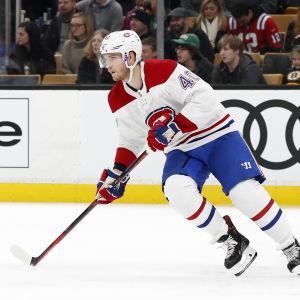 Joel Armia hann spela 15 matcher för Canadiens före skadan.