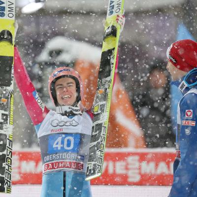 Stefan Kraft tog karriärens första seger i världscupen.