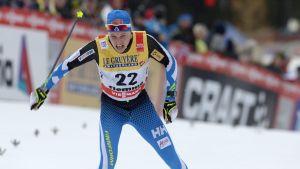 Matti Heikkinen gjorde ett gott dagsverke när han var trea på sista etappen i Tour de Ski.