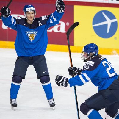 Sebastian Aho och Patrik Laine, JVM 2016.