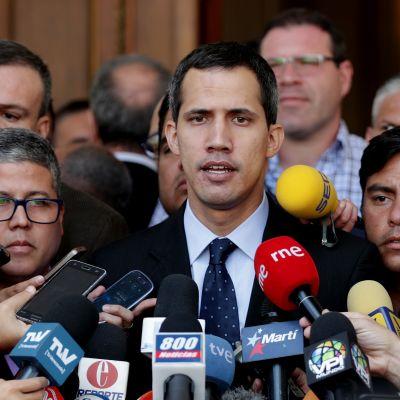 Juan Guaido, oppositionsledare i Venezuela.