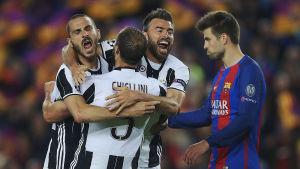 Juventus försvar imponerade stort i kvartsfinalens dubbelmöte mot Barcelona.