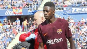 Ousmane Dembélé skadade baklåret i matchen mot Getafe.