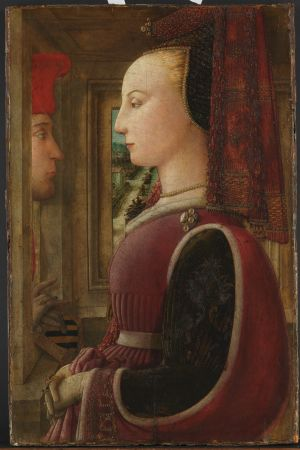 Fra Filippo Lippi: Nainen ja mies ikkunan luona  n. 1440