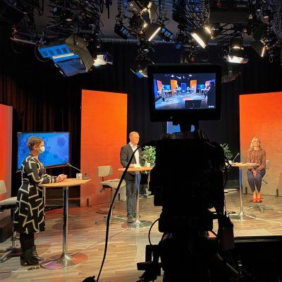 Interiören av en TV-studio.