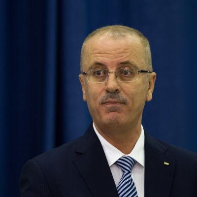 Palestinas avgående premiärminister Rami Al-Hamdallah.