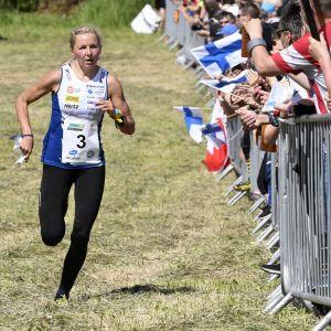 Marika Teini undre en världscupdeltävling i Vichtis 2019.