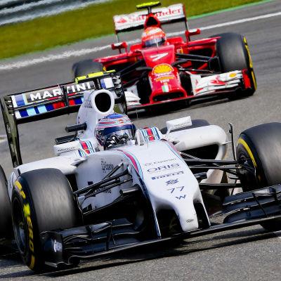 Valtteri Bottas och Kimi Räikkönen, våren 2015.