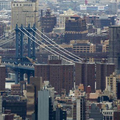Manhattan på ett foto taget den 18 mars 2016.