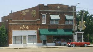 Fasaden till Sun Studios i Memphis.