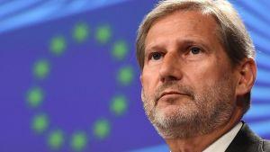 EU:s utvidgningskommissionär Johannes Hahn.