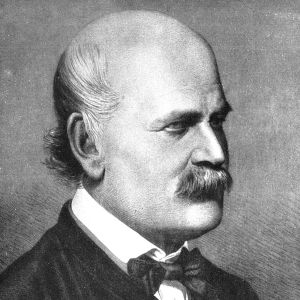 Läkaren Ignaz Semmelwies, handtvättens fader.
