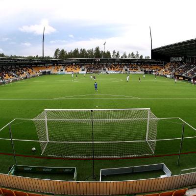 Bild från fotbollsstadion i Seinäjoki.