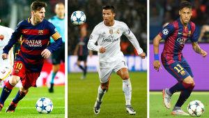 Lionel Messi, Cristiano Ronaldo eller Neymar?