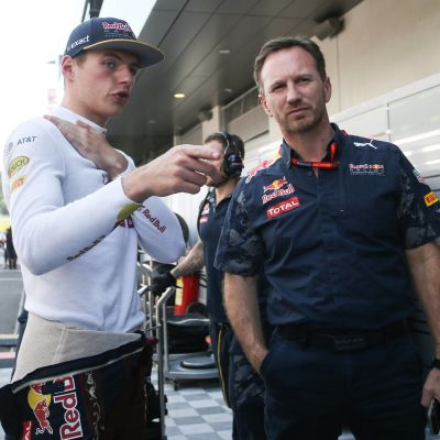 Max Verstappen och Christian Horner